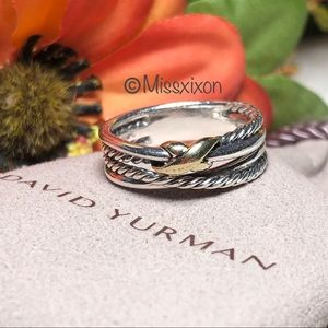 ❤️David Yurman X Crossover Ring with 18K SZ 7.5